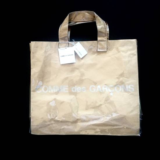 Comme des Garcons Brown Paper & Plastic Logo Tote Bag NWT Size ONE SIZE