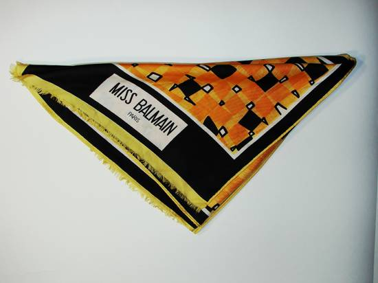 Balmain Miss Balmain Paris Scarf Multi-Color Size ~ 28 x 118 Excellent Condition 🔥 Final Price !! Final Drop or delete !! Need Gone Today !! Size ONE SIZE - 5
