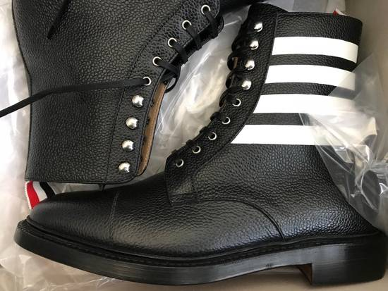 Thom Browne Winter Sale!! Further Markdown!! $1190 Thom Browne Mens Grainy Finish Lace Up Boots Size US 8 / EU 41 - 1