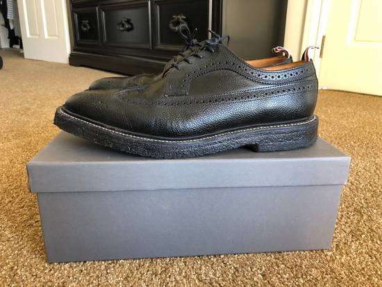 Thom Browne Men's Black Pebble Wingtip Brogue Shoe Size US 12 / EU 45