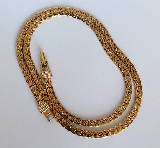 Givenchy Gold Plated Flat Braided Necklace Size ONE SIZE - 2