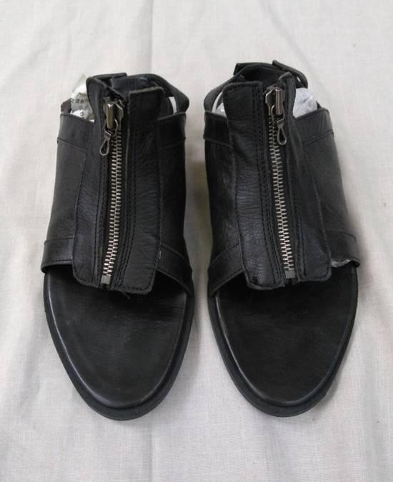 Julius Black Leather Zip Sandals s/s09 Size US 9.5 / EU 42-43 - 1