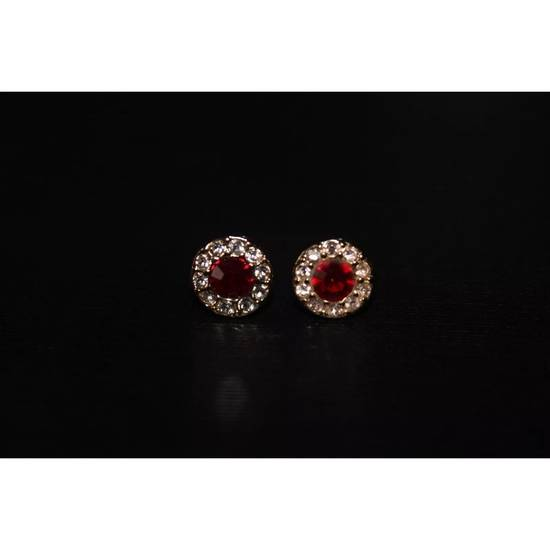 Givenchy Gold Ruby Crystal Earrings Size ONE SIZE