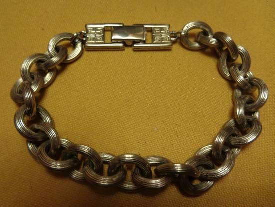 """Givenchy 8"""" Vintage Silver Plated Bracelet Size ONE SIZE - 2"""