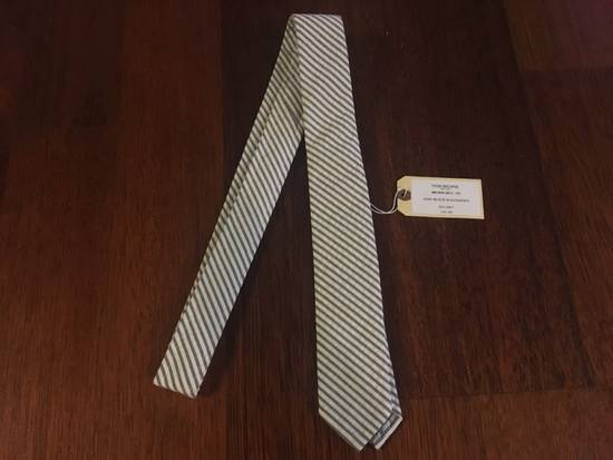 Thom Browne SS'18 Thom Browne Seersucker Cotton Slim Tie Size ONE SIZE