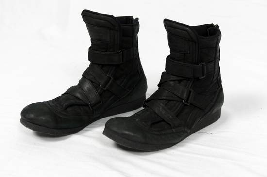 Julius AW11 Waxed Black Strapped Leather Boots Size US 9 / EU 42 - 1