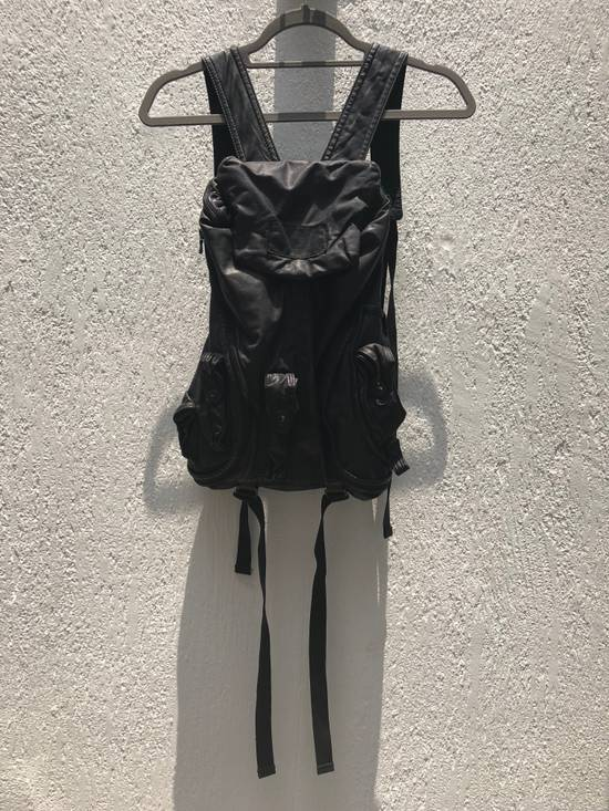 Julius Gas mask Goat leather cargo backpack Size ONE SIZE