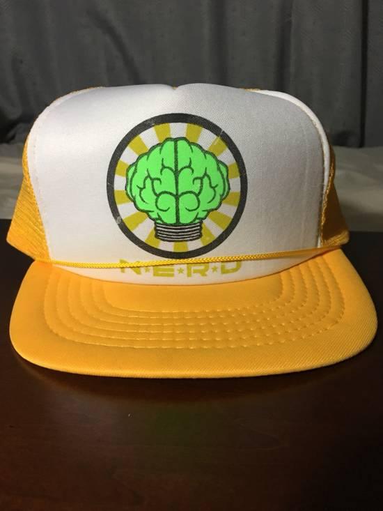 Pharrell Vintage N*E*R*D Gold/White Trucker Hat (2003) Size ONE SIZE - 8