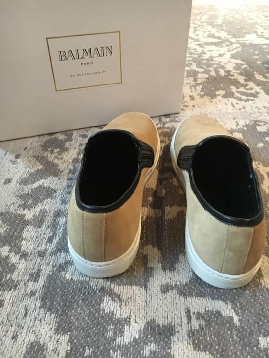 Balmain Balmain Beige Suede Slip On Sneakers Size US 9 / EU 42 - 1