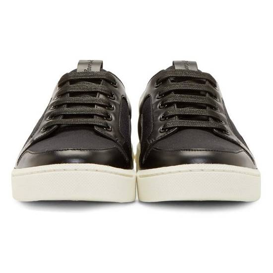 Balmain Low-Top Leather Sneakers Size US 12 / EU 45