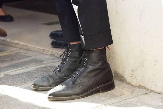 Thom Browne Black Classic Wingtip Boots Size US 8.5 / EU 41-42 - 4