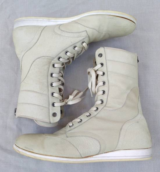 Julius Backzip White Pigskin Boxing Boots Size US 9 / EU 42 - 4