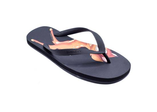 Givenchy New~Mens Givenchy Black Bambi Rubber Flip flops Slippers Size US 9 / EU 42