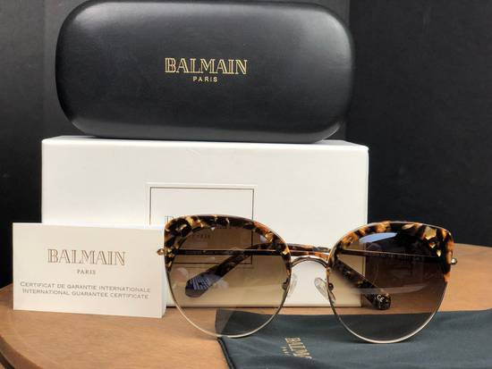 Balmain Balmain Black Gold Sunglasses BL 2509 Size ONE SIZE