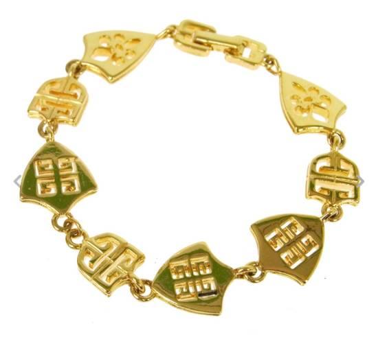 Givenchy Givenchy Logo Charm Bracelet Gold Tone G Clasp Size ONE SIZE