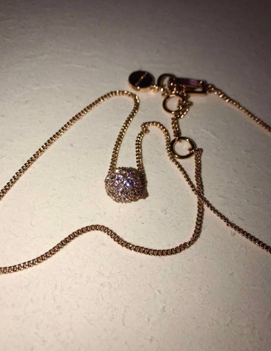 Givenchy Givenchy Crystal Pendant Rose Gold Tone Necklace Diamond Chain Size ONE SIZE - 3