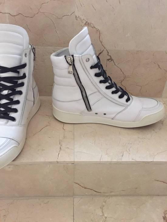 Balmain BALMAIN White Leather High Top Sneakers 100% Authentic Size 45 US 12 Size US 12 / EU 45 - 3