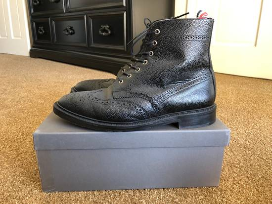 Thom Browne Men's Black Pebble Wingtip Boot Shoe Size US 12 / EU 45