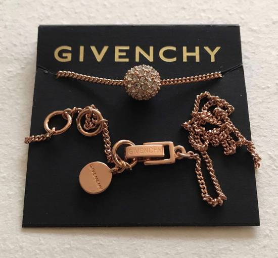 Givenchy Givenchy Crystal Pendant Rose Gold Tone Necklace Diamond Chain Size ONE SIZE - 4