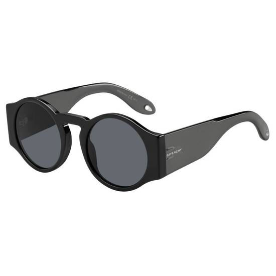 Givenchy NEW Givenchy 7056/S Black Round Thick Leg Circle Sunglasses Size ONE SIZE