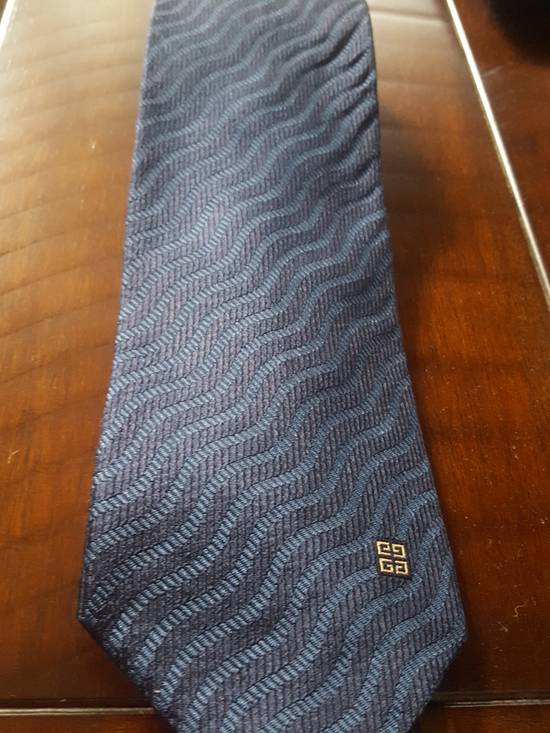 Givenchy Navy Striped Givenchy tie Size ONE SIZE - 4
