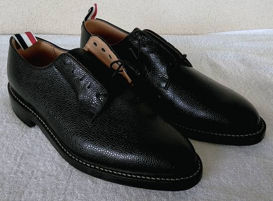 Thom Browne THOM BROWNE BLACK BLUCHER/DERBY IN PEBBLE GRAINED LEATHER Size US 10 / EU 43 - 1