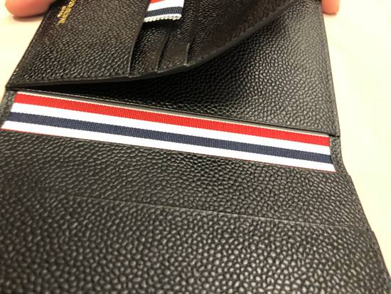 Thom Browne pebble grain leather passport holder Size ONE SIZE - 6