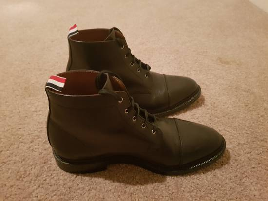 Thom Browne Black Cropped Derby Boot Size US 10.5 / EU 43-44 - 3