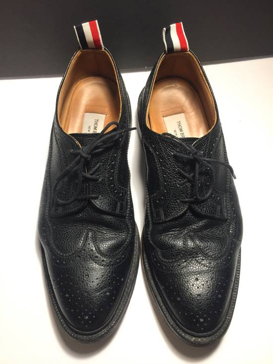 Thom Browne LAST DROP Thom Browne Pebble-Grain Leather Longwing Brogues Size US 11 / EU 44 - 1