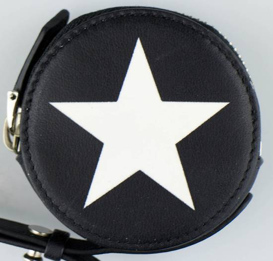 Givenchy Men's Black & White Leather Star Print Coin Pouch Size ONE SIZE - 3