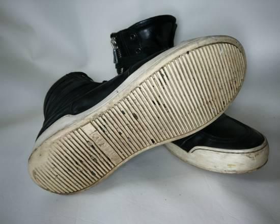 Balmain Black Leather Balmain Baskets Size US 9.5 / EU 42-43 - 4