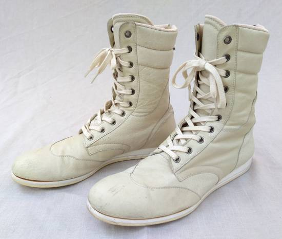 Julius Backzip White Pigskin Boxing Boots Size US 9 / EU 42