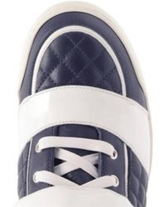 Balmain balmain navy + white quilted leather high tops Size US 11 / EU 44 - 3