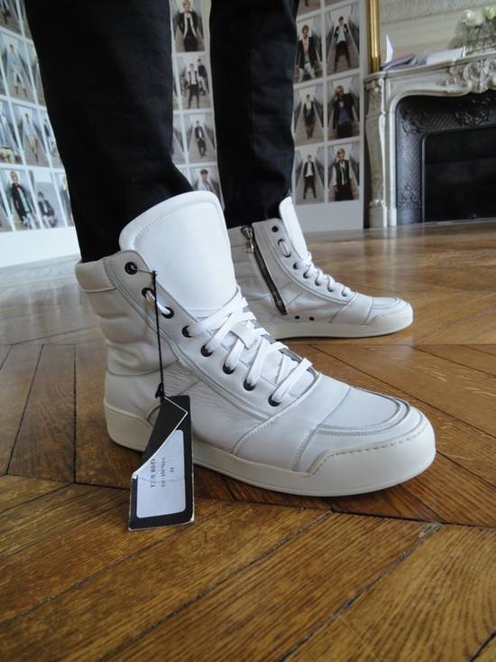 Balmain Balmain White High-Top Sneakers Size US 6.5 / EU 39-40 - 4