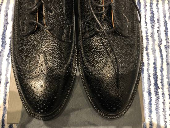 Thom Browne Classic Longwing Brogues with Leather Sole in Pebble Grain Size US 9 / EU 42 - 3