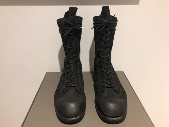 Julius Blistered Leather Back Zip Combat Boots Size US 11 / EU 44 - 2