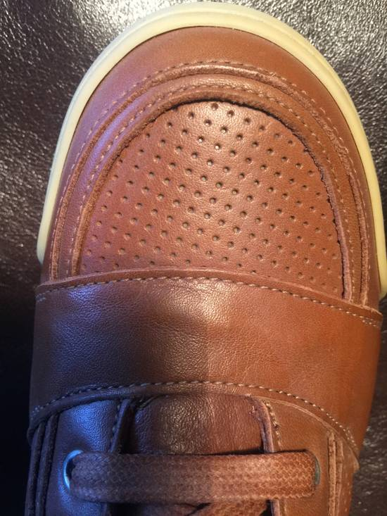 Balmain Hi Top Camel Leather Sneakers Size US 9 / EU 42 - 3