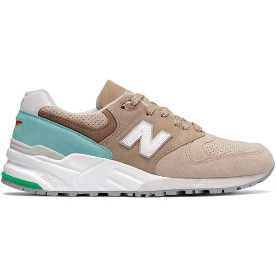 new style df831 39213 999 M999CSS Premium Suede Tan & Light Blue Traditionnels - New in Box