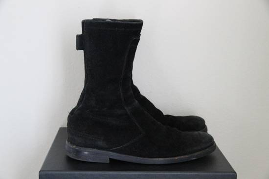 Dior RARE AW04 Dior Homme 'VOTC' Hedi Slimane Black Suede Leather Boots 42 / 9 Size US 9 / EU 42 - 4
