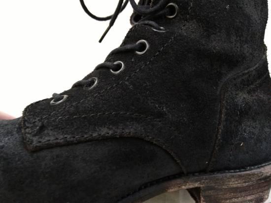 Julius Black Reversed Leather Backzip Combat Boots Size US 11 / EU 44 - 5