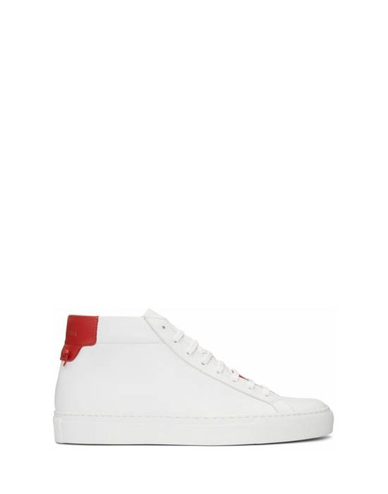 Givenchy Givenchy Urban Street Mid Sneakers - White & Red (Size - 43) Size US 10 / EU 43
