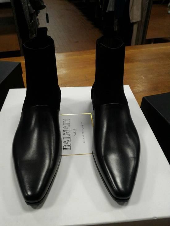 Balmain 40-41-42 Contrast Suede & Leather Boot Size US 9 / EU 42 - 5