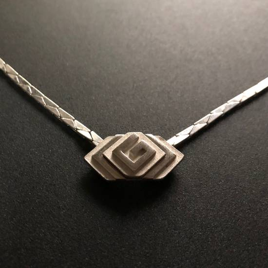 "Givenchy Silver ""G"" Necklace Size ONE SIZE"