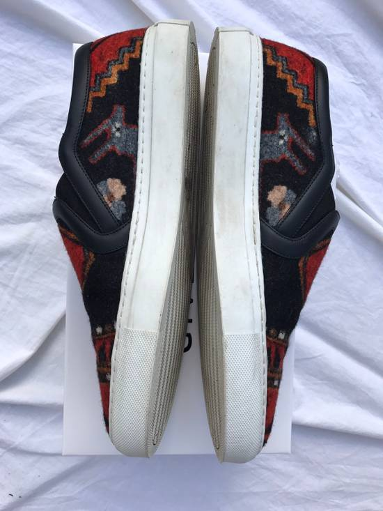 Givenchy FINAL DROP Persian Aztec Mexican slip on skate shoes wool ombre omega black red blue carpet print Size US 11 / EU 44 - 2