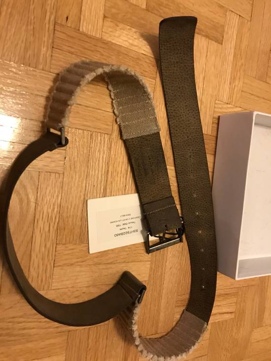 Balmain Size 95/38 - Leather / Fabric Belt Size 38 - 10