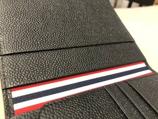 Thom Browne pebble grain leather passport holder Size ONE SIZE - 3