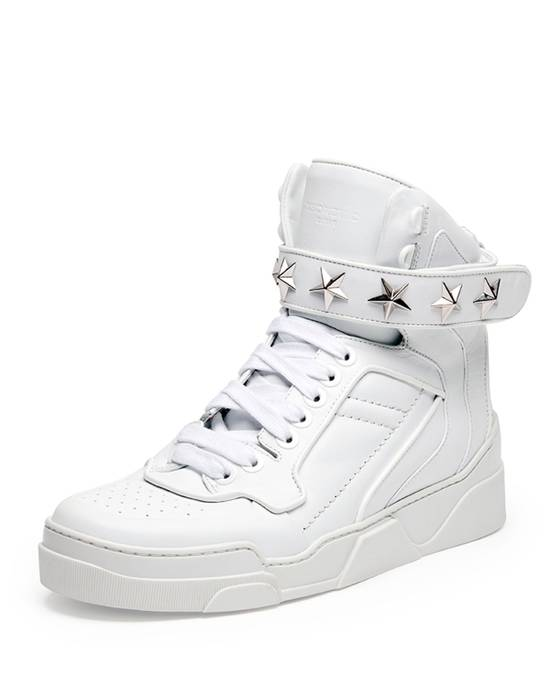 Givenchy Tyson Hightop STARS STRAPS Leather Sneaker Size US 12 / EU 45 - 1