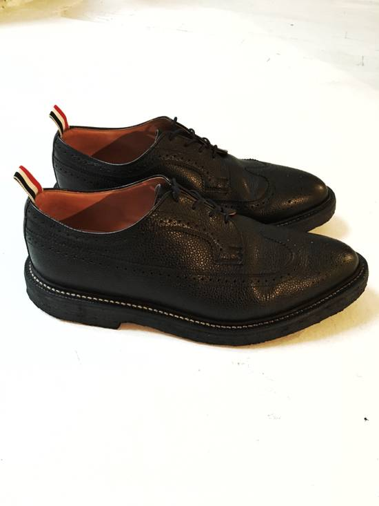 Thom Browne THOM BROWNE CLASSIC BROGUES WITH GUM SOLE IN BLACK PEBBLE GRAIN SIZE US11 Size US 11 / EU 44