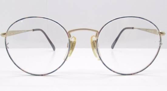 Givenchy GIVENCHY Vintage 90s Oval Round Frame Eyewear Gold Tone Purple Blue Pink Green Eyeglasses Glasses Size ONE SIZE - 2
