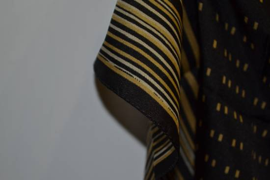 Balmain Balmain Black and Gold Scarf Pierre Ivoire De Balmain Luxury Rare Piece Size ONE SIZE - 3